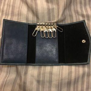 Teal 6-Key Holder Card Holder